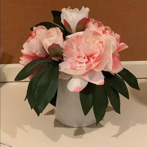 Faux Pink Flower Arrangement